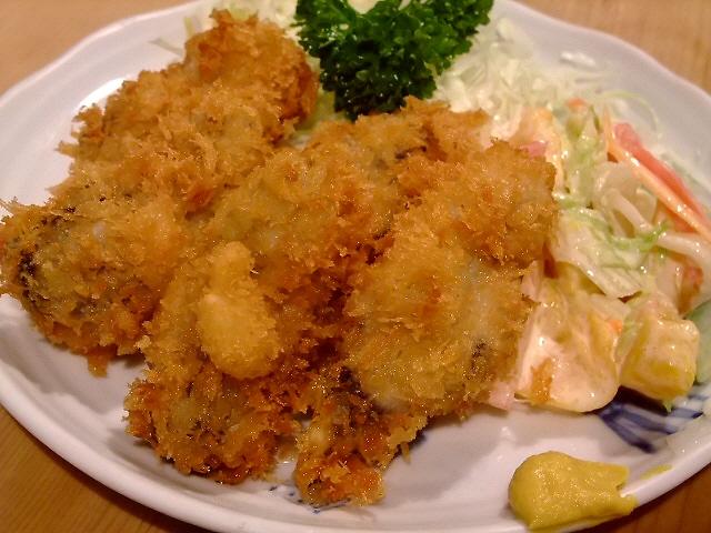 Mのディナー 今シーズンもいただきました!東京最強カキフライ! 東京 「三州屋 銀座店」