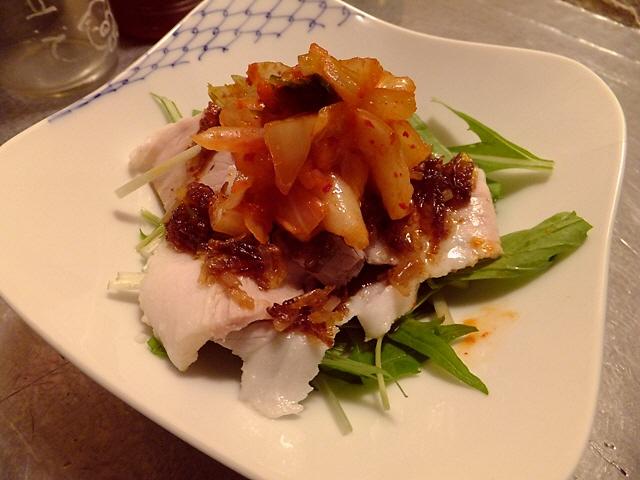 Mのディナーその3  豚肉専門店のキムラ君  なんば  「大阪焼トンセンター」