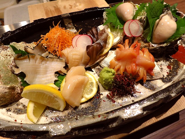 Mのディナー  貝料理専門店の超お値打ち絶品牡蠣のすき焼きコース!  心斎橋  「えぽっく」