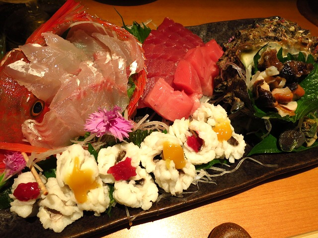 Mのディナー  絶品マグロと新鮮な魚介類の大満足コースをいただきました!  高槻市  「居酒屋 希SAKU(きさく)」