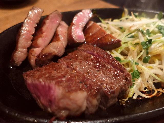 Mのディナー  分厚い牛タンとステーキがお手軽にいただけます!  中央区高津  「ぶりあん」
