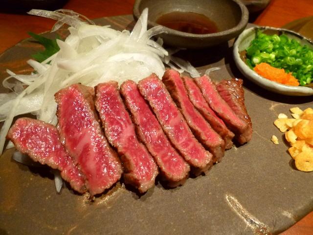 Mのディナー  あまりにも旨すぎるお肉に驚愕です!  江坂  「哲」