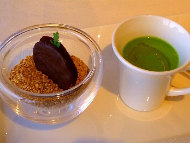 Mのディナー  やなもり農園の新年会でスペシャルなコースをいただきました!  ホテルニューオータニ大阪  「サクラ」