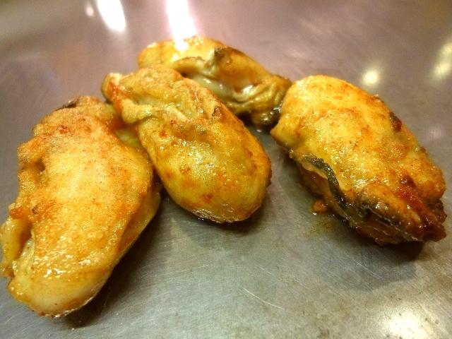 Mのディナーその2  丸々と太った牡蠣は絶品です!  広島県  「八紘」