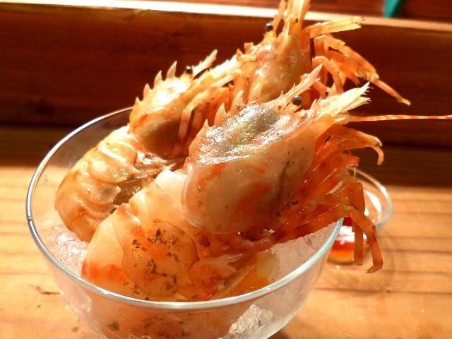 Mのディナー 海老好きにとってここのお任せコースは満足感が高すぎます!  福島区  「orb」