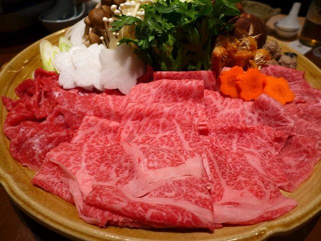 Mのディナー  香川名物オリーブ牛の牛すき鍋と絶品うどんがいただけるお値打ちコース!  大阪駅前第3ビル  「うどん棒 大阪店」