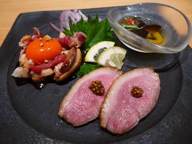 Mのディナー  絶品河内鴨鍋と鴨料理に感動させていただきました!  豊中市  「鼓道」