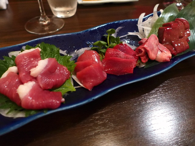 """Mのディナー  """"KOYAMAワインと獺祭を小山さんと一緒に焼き鴨で頂く会""""に参加させていただきました!  中央区瓦町  「どら鴨」"""