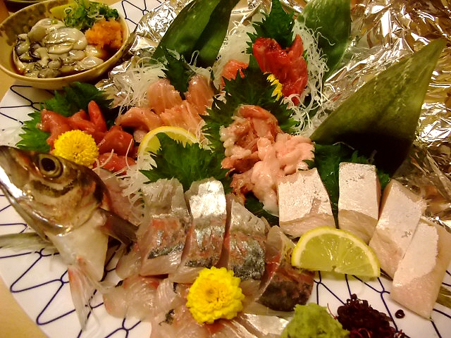 Mのディナー 新鮮な魚介類が豊富にそろっています 天王寺 「魚市 天王寺ミオ店」