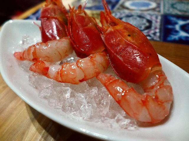 Mのディナー 絶品海老料理が北新地でお手軽にいただけます! 北新地 「活海老バルorb 北新地」