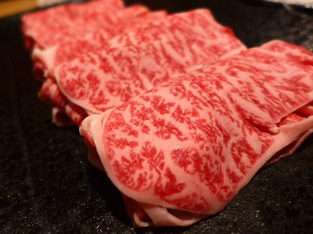 Mのディナー 神戸牛のしゃぶしゃぶは感動的な旨さです! 道頓堀  「牛一 道頓堀店」