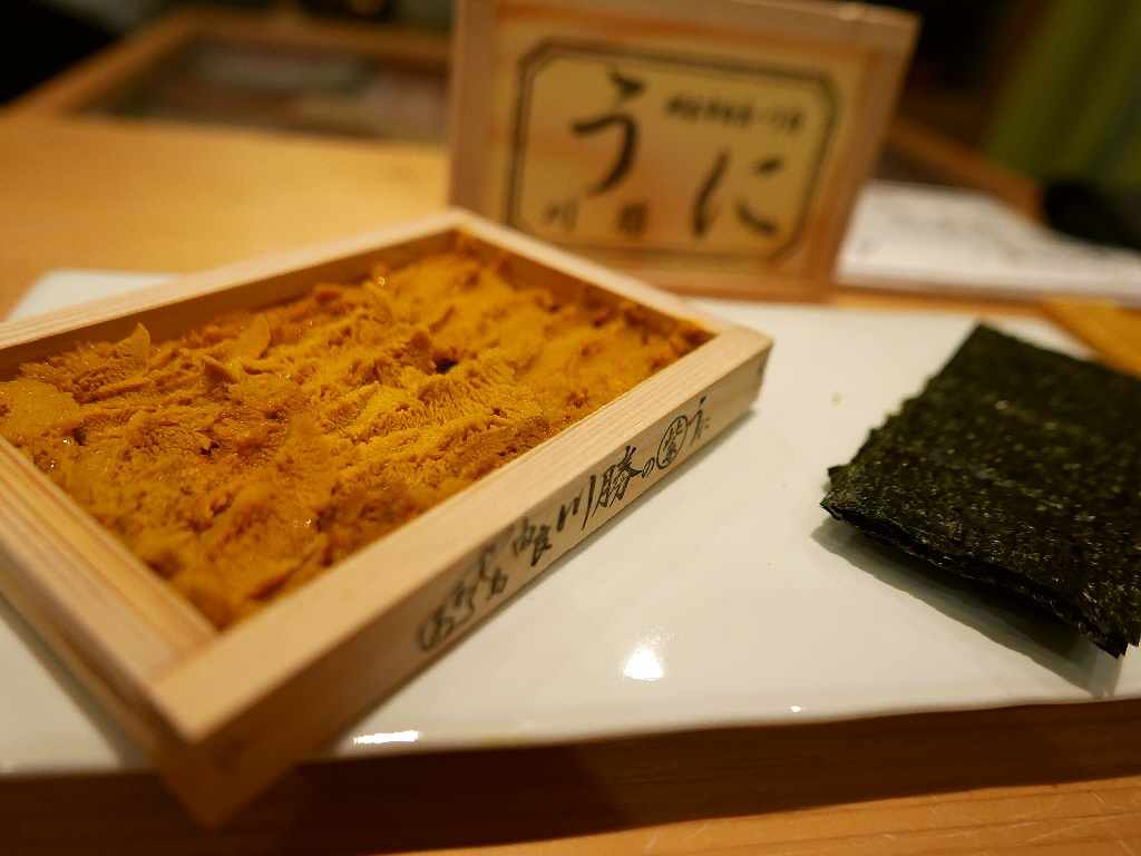 Mのディナー 素材も技もピカ一!アテが美味しすぎてお寿司に辿り着きません(^^; 福島区 「鮨 永吉」