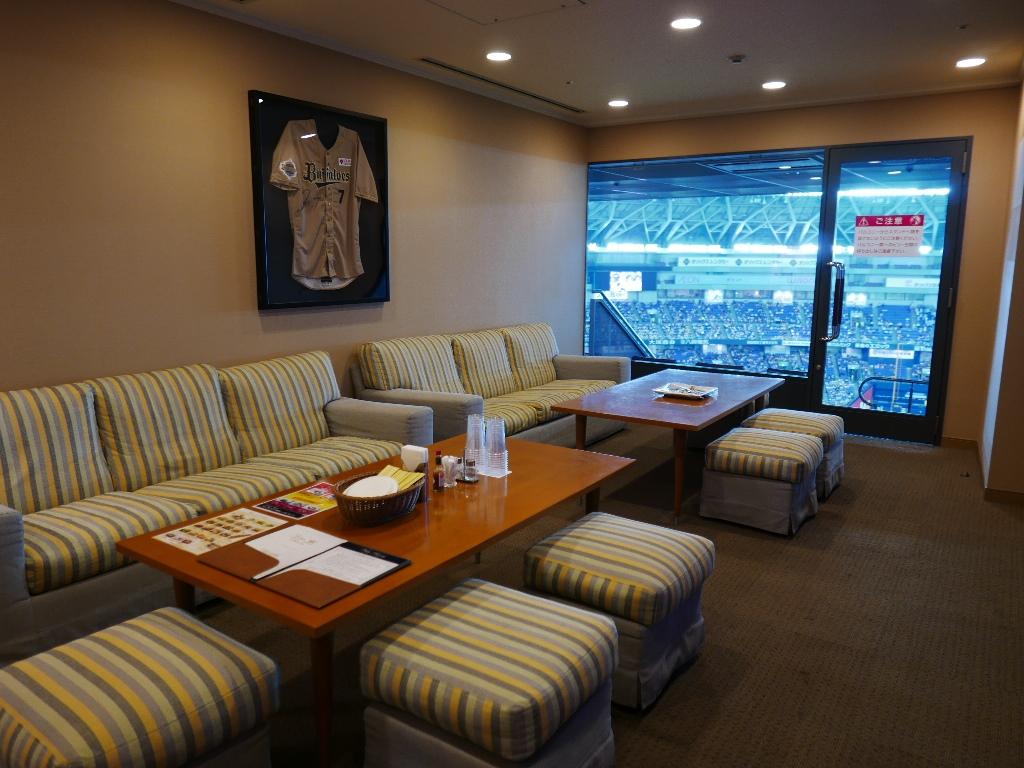 Mのディナー 抜群眺望の快適なルームでプロ野球観戦! 京セラドーム大阪 「ビスタルーム」