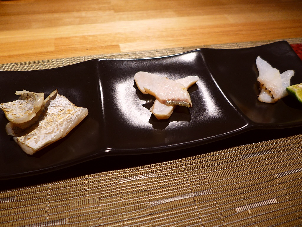Mのディナ- ありそうで無かった熟成魚の絶品お寿司をシャンパンとワインとともに楽しめます! 福島区 「シャンパン&ワインと熟成鮨 Rikyu (リキュウ)」