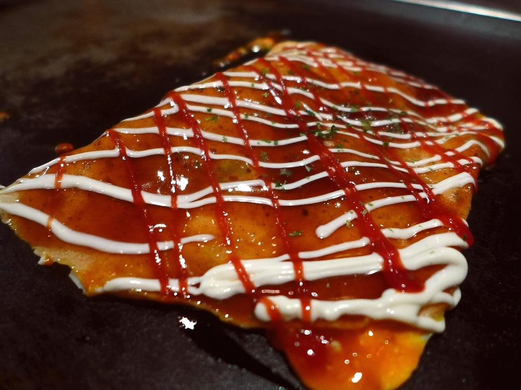 Mのディナー いつ行ってもびっしり満席の大人気お好み焼き店! 西成区  「お好み焼き でん」