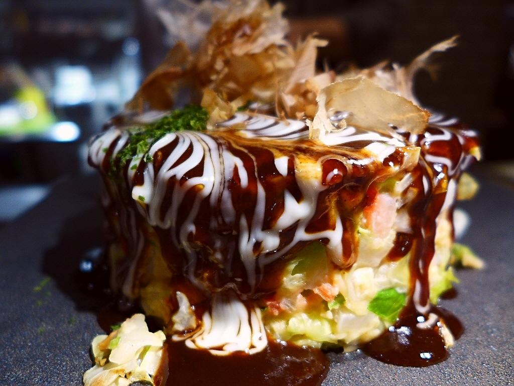 Mのディナー 人気創作鉄板焼き屋さんのお肉も魚介も野菜もお好み焼きも全部美味しい飲み放題付きのお値打ちコース! 堺筋本町  「創作鉄板 mo-ri(モーリ)」