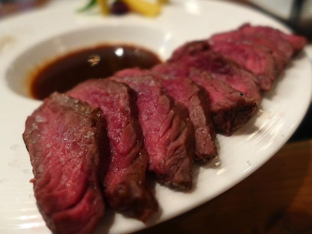 Mのディナー 食べれば食べるほど痩せるカンガルー肉がとても美味しくいただけます! 四ツ橋 「son-ju-cue (村塾)」