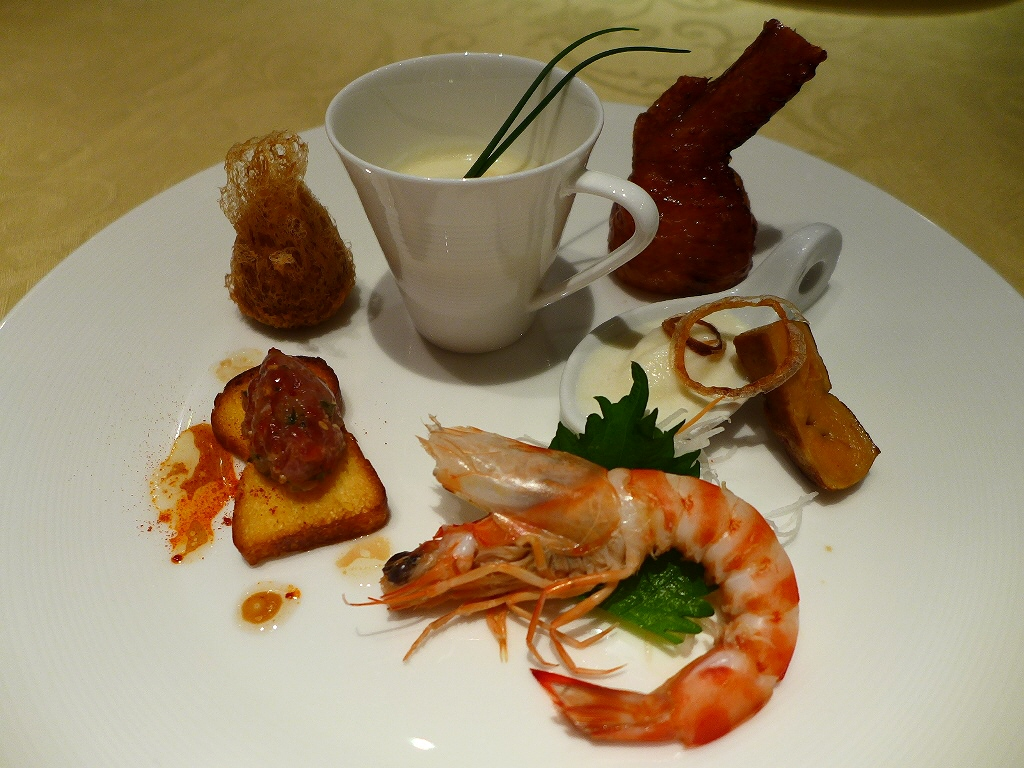 Mのディナー 高級中華とフレンチが融合した料理の斬新な美味しさに感動! ANAクラウンプラザホテル大阪 「花梨」