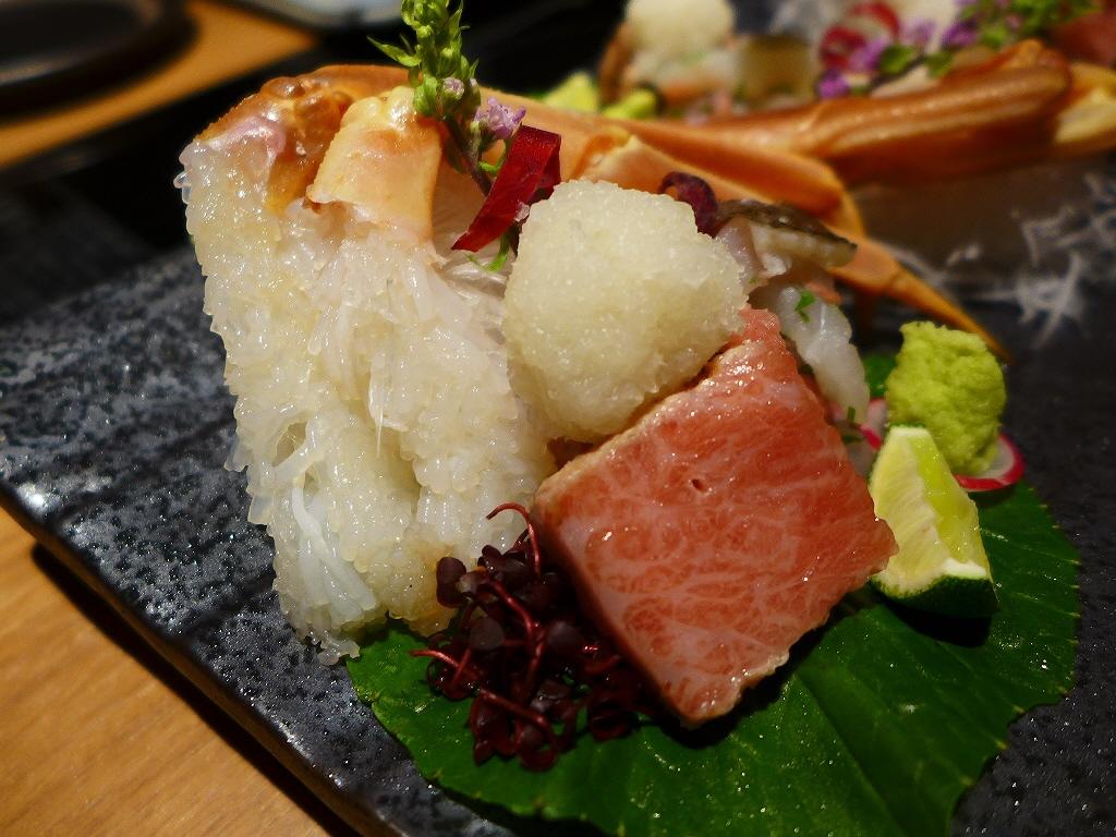 Mのディナー 大阪に居ながらにして海の幸の宝庫北陸越前の料理旅館の味がお手軽にいただけます! 北新地 「はれや別邸」