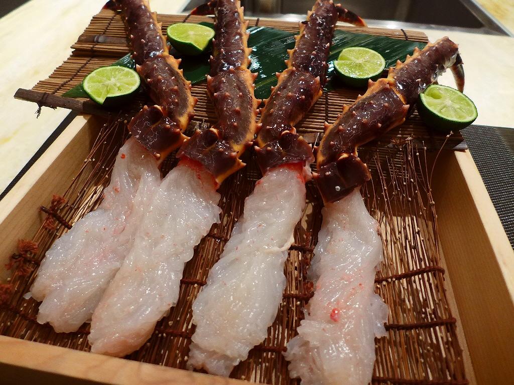 Mのディナー ゴージャスな空間でカニをはじめとする絶品の甲殻類料理を心から堪能させていただけます! 北新地 「甲殻類専門 canni sienne(カニジェンヌ) 北新地」