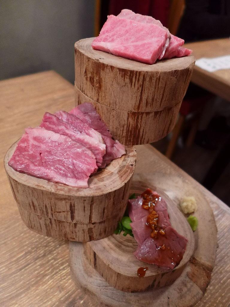 Mのディナー 新たなジャンルの焼肉寿司と独自開発の調理法による肉刺しが食べられるお店がオープンします!   福島区 「福島 焼肉寿司」