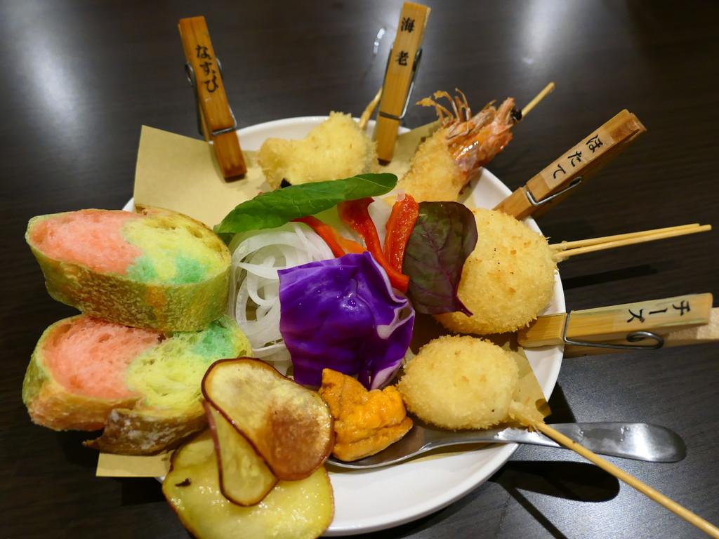 Mのディナー 濃厚ウニソースで食べる串カツ『ウニージョ』が旨い! 天満 「串カツ酒場 天満店」