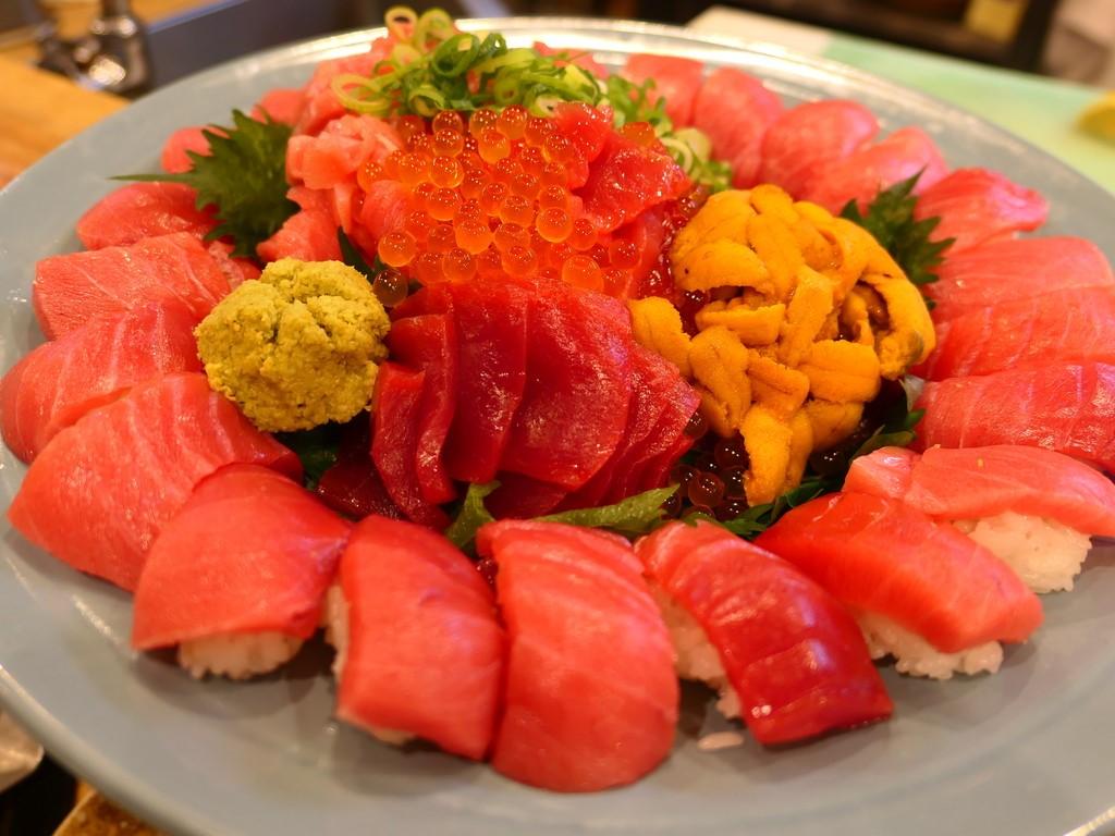 Mのディナー 今月もお得すぎる『超ごちそうセリ市祭』に参加させていただきました! 天神橋5 「海鮮居酒屋 天満産直市場」