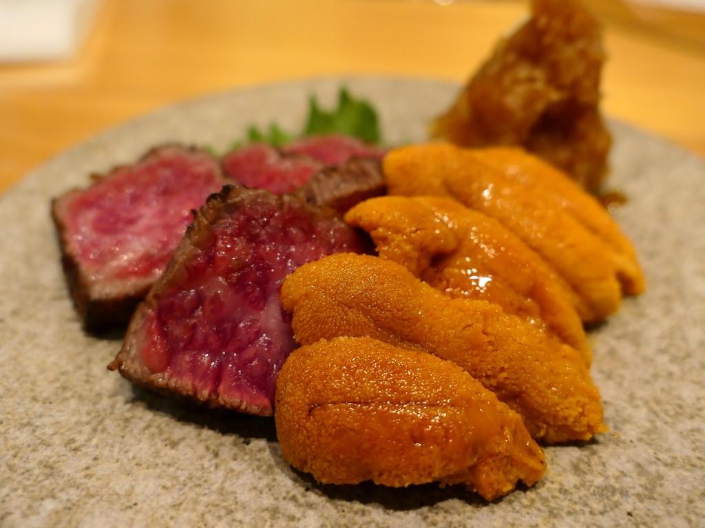 Mのディナー 高級でとても美味しいネタとアテがお手軽にいただける大人気のお寿司屋さん 福島区 「鮨 永吉」