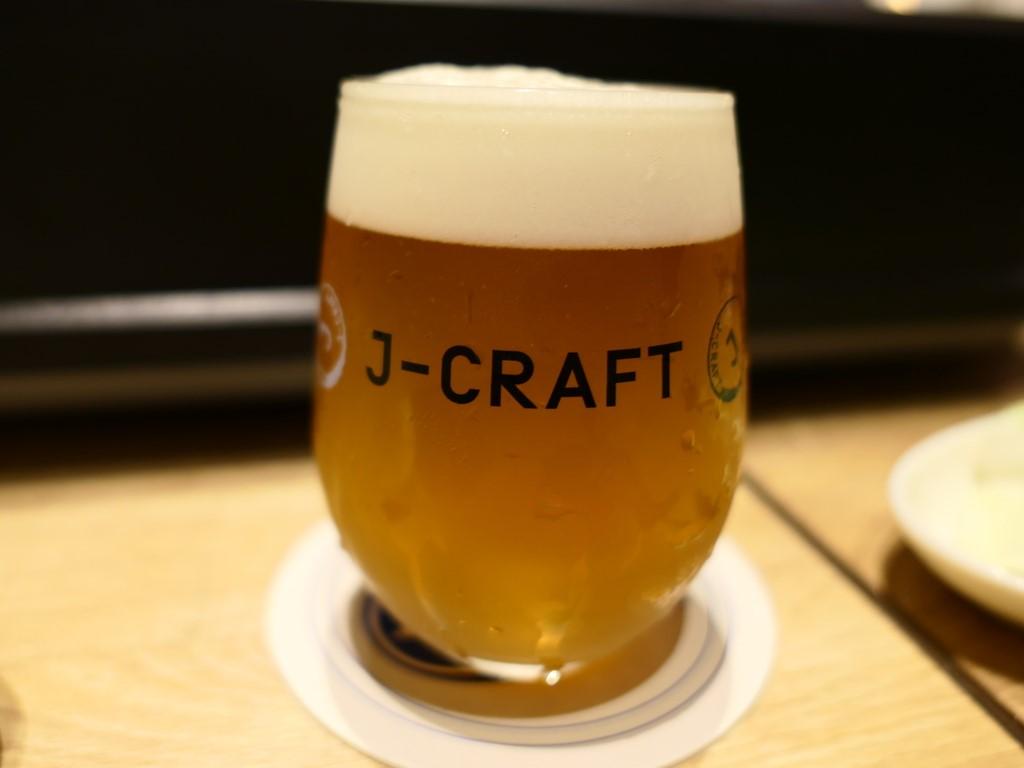 Mのディナー 大好きなJ-CRAFTの生ビールを飲みながらいただくジンギスカンは最高です! グランフロント大阪 「世界のビール博物館 グランフロント大阪店」